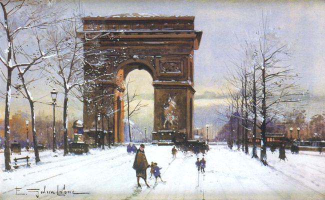 Galien-Laloue ses oeuvres - l'Arc de Triomphe
