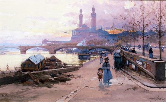 Galien-Laloue peint le palais du Trocadéro